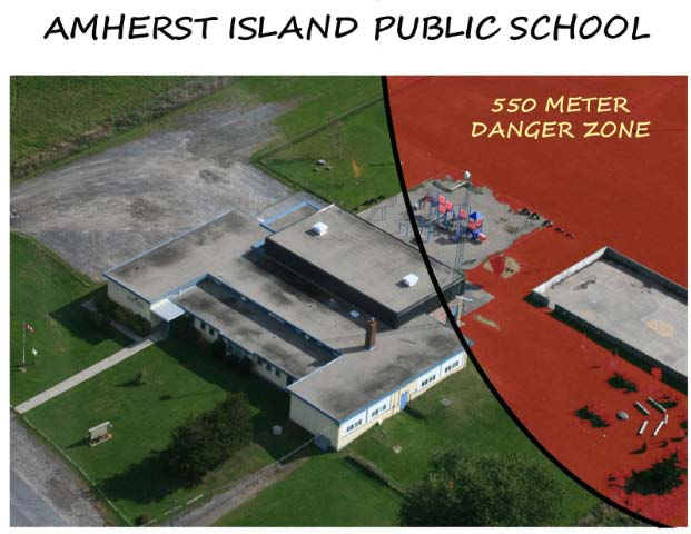 Cement Plant, Laydown Area, Transport Route Planned by School