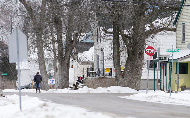 The village of Stella on Amherst Island is hosting three days of hearings by the Environmental Review Tribunal. (Elliot Ferguson/The Whig-Standard)